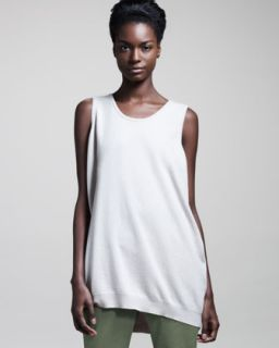 Brunello Cucinelli Fine Rib Scoop Neck Top