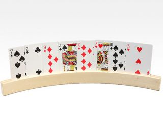 Curved Wood Playing Card Holders Rummy Canasta Bridge Poker Cards