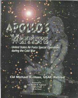 WARRIORS USAF SPECIAL OPERATIONS history book 370 pgs; VG condition