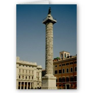 Romans View of Trajans Column, 113 AD located at the Forum, Rome