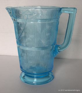EAPG Bryce Higbee Blue Wooden Pail aka Oaken Bucket Pitcher 1880s