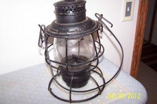 Railroad Lantern VERY RARE MOBILE  OHIO RAILROAD M & O R.R. ANTIQUE
