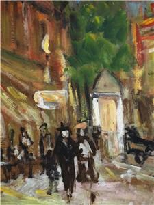 Early Mid 20THYC French Post Impressionist Townscape Oil Painting Ind