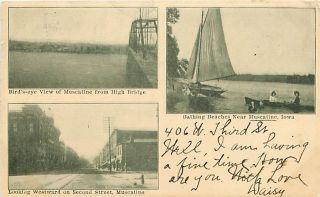 IA Muscatine 1907 High Bridge Beach Second St M49113