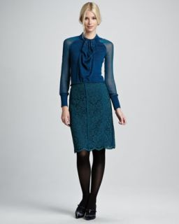 T5NJ0 Tory Burch Everett Lace Skirt