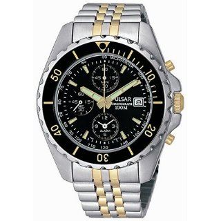 Pulsar Mens PF3225 Alarm Chronograph Watch Watches