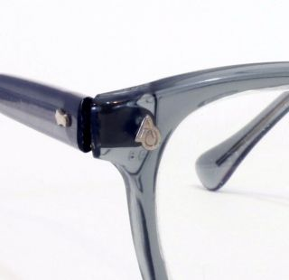 NOS American Optical Horn Rimmed Safety Glasses New in Box Smoke Gray