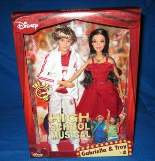 Disney High School Musical Singing Gabriella Troy Barbie Gift Set New