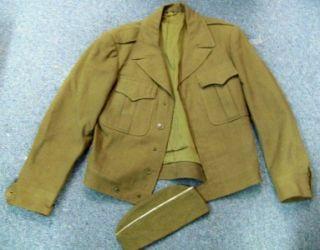Vintage WWII or Korea Army Uniform Jacket Eisenhower Coat Size 36R and