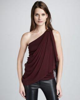 Draped Silk Top