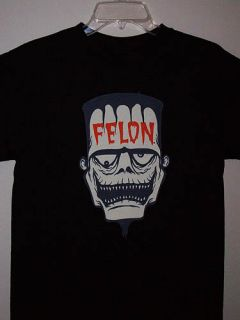 Felon Lucky 13 Psychobilly Gothic Horror Punk Frankenstein Mens Black