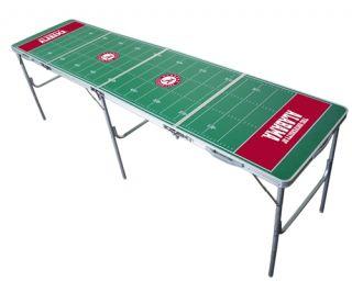 NCAA Alabama Crimson Tide Beer Ping Pong Tailgate Table