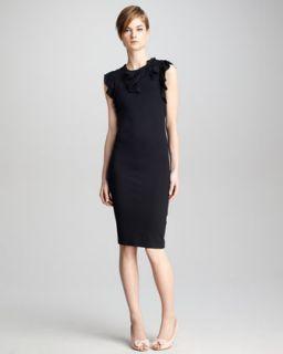 T5U1Q RED Valentino Bow Detail Jersey Dress