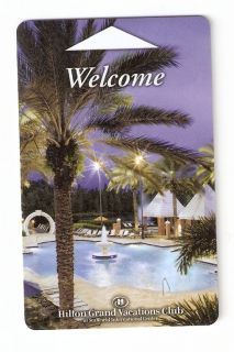 Room Key Hilton Grand Vacations at SeaWorld Orlando Florida Non Casino