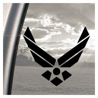 FLAMING US AIR FORCE Black Decal Car Truck Window Sticker