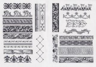 Anna Griffin Elegant Borders Clear Stamp Set CLOSEOUT Sale 21 Stamps