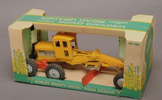 HUBLEY MIGHTY MOVER ROAD GRADER in Box circa 1960s Good Condition