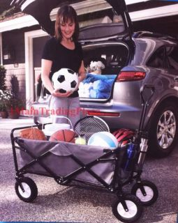 Deluxe Collapsible Utility Folding Wagon Rolling Cart