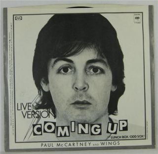Paul McCartney 45 RPM Record Coming Up Live Version 80