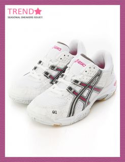 BN Asics Women Gel Rocket Volleyball Badminton Shoes White Charcoal
