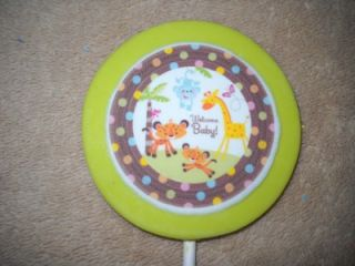 Baby Jungle Safari Giraffe Zebra Horton Monkey Lion Elephant Lollipops