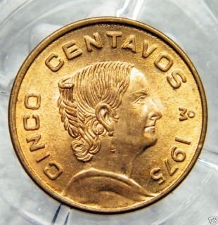 1975 Cinco Centavos Mexican Coin 7803