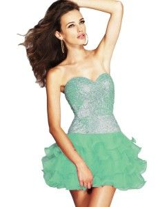 Sherri Hill 8422 Strapless Sequined Cocktail Dress Various Colors