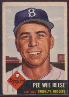 1953 Topps #76 Pee Wee Reese Brooklyn Dodgers HOF