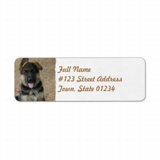 German Shepherd Puppy Mailing Label