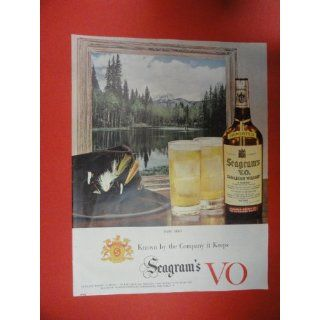 Seagrams V.O. canadian Whiskey Print Ad. fishing hat