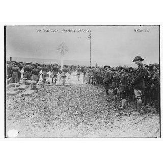 British field memorial service