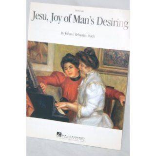 Jesu, Joy of Mans Desiring Piano Solo Johann Sebastian