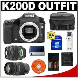 Pentax K200D Digital SLR Camera with Pentax SMC DA 18 55mm