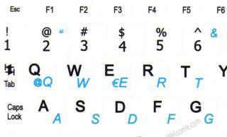 Netbook Spanish La English Keyboard Stickers White Mini