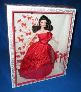 Holiday Christmas Barbie 2012 Brunette Exclusive Doll New