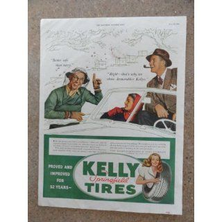 Kelly springfield tires, Vintage 40s full page print ad