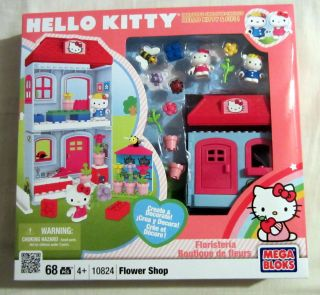 MEGA BLOKS HELLO KITTY FLOWER SHOP 10824