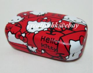 Japan Sanrio Original Hello Kitty Cell Phone Earphone Red Case (NEW)