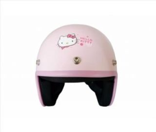 hello kitty on bike motorcycle 3 4 helmet retro pink