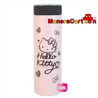 Hello Kitty Stainless Steel Vacuum Drinking Cup Mug 11 8 oz 350 Ml