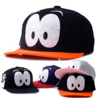 Unisex Cuty Eye Flat Brim Hip Hop Hat Ball Cap K Pop