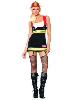 Sexy Fire Fighter Costume Girl Fire Woman Mini Dress