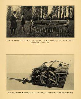 1931 Prin Hiram Moore Force Feed Grain Drill Machine Original