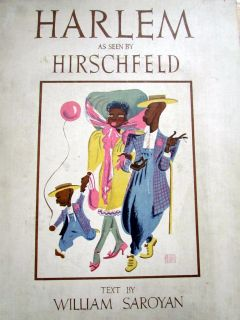 1941 Albert Hirschfeld Harlem Book with Original Caricature Drawing 21