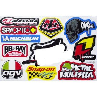 Sponsor Motocross Racing Tuning Decal Sticker Sheet C162