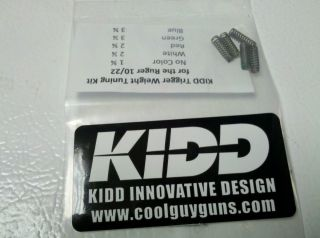Kidd Ruger 10 22 Trigger Weight Tuning Spring Kit Target Trigger 1022