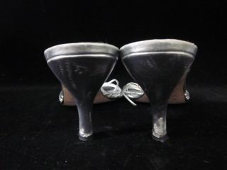 Hollywould Silver Strappy Sandals Heels Sz 10 Box