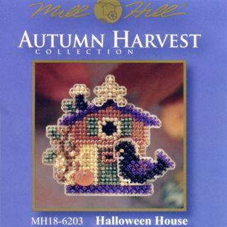 Halloween House Glass Bead Ornament Kit Mill Hill 2006 Autumn Harvest