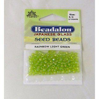 Beadalon Japanese Glass Seed Beads Rainbow Light Green 10