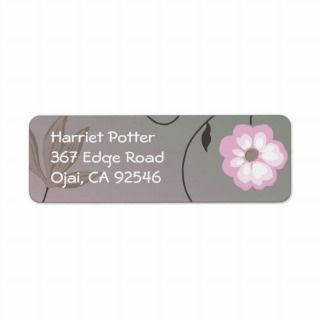 Cute Retro Little Pink Flowers Custom Return Address Labels